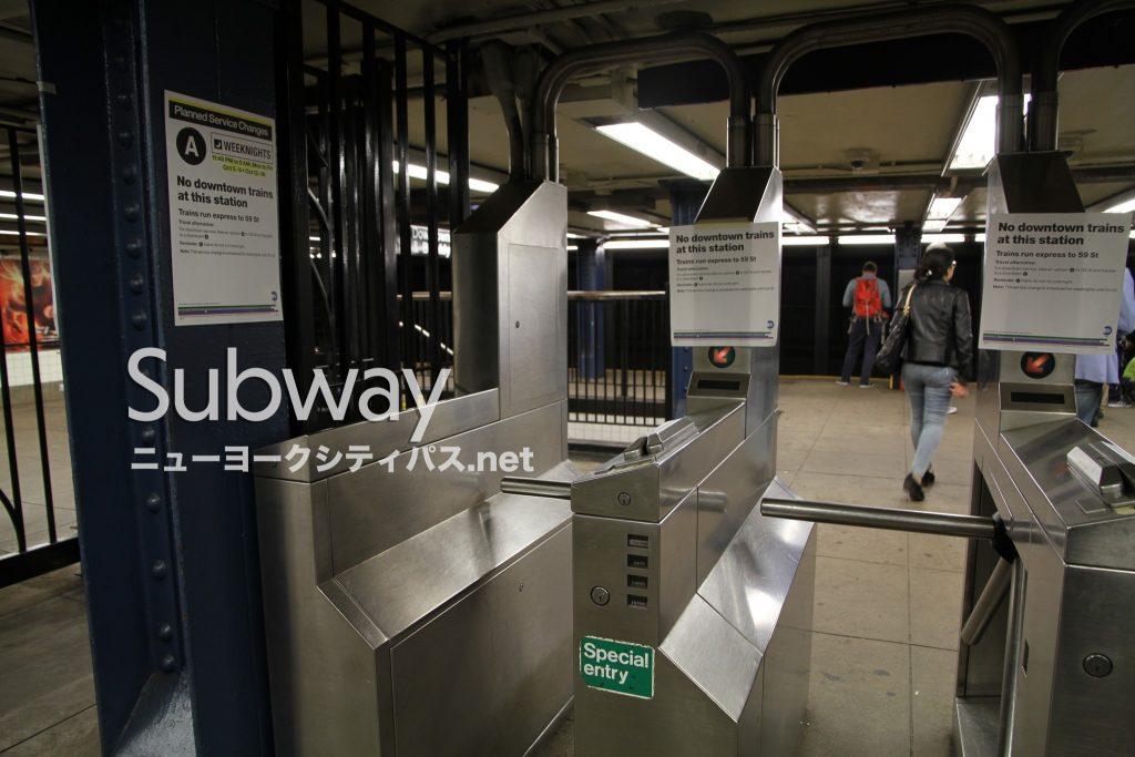 ニューヨーク 地下鉄 改札